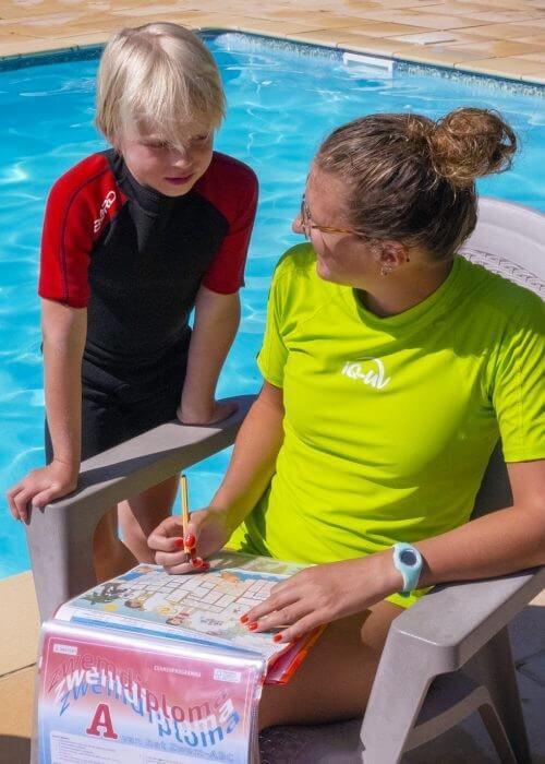 foto zwemles diploma zwemmen stickers plakken